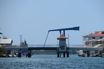 We pass one of the draw bridges that allows boats to enter Simpson Bay Lagoon.