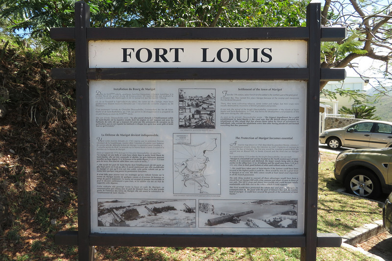 This sign marks the entrance to the fort grounds.