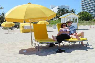 We flew to Miami on Wednesday and were at the Westgate South Beach Resort by 2 p.m. - 30 minutes after we checked in we were on the beach.