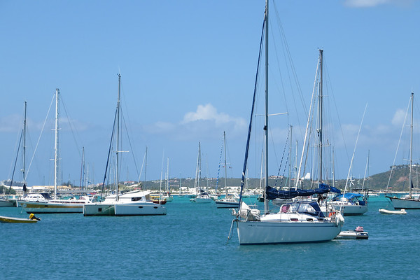 We get a closer look at all the sailboats from down here.