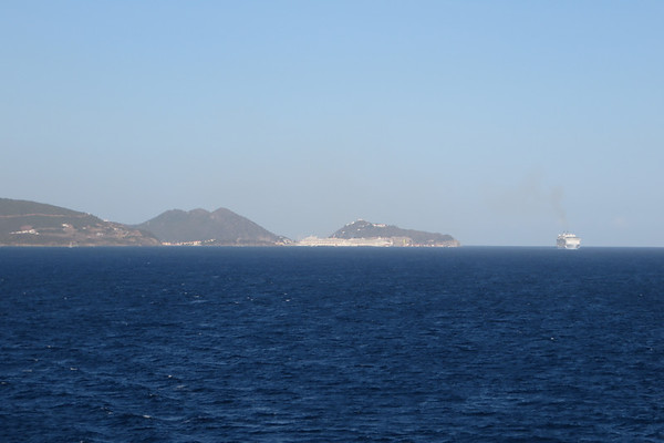 So long St. Maarten.  We were the first ship to leave.